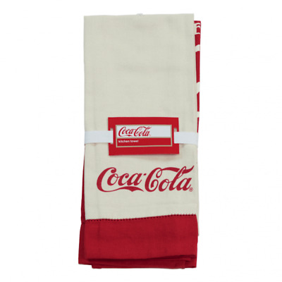 Authentic Coca-Cola Coke Pre-1910 Kitchen Towels Set/2 New with Tags