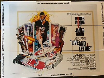 James Bond Movie Poster 9 Card Set Live And Let Die Non Metal