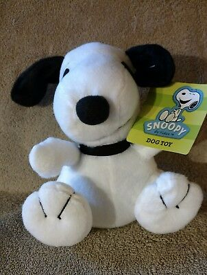 Snoopy Plush Dog Toy with Squeaker NWT