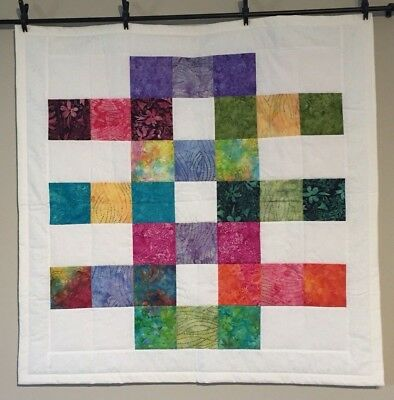New Beautiful Batiks Print Quilt Baby Quilt Lap Throw Handmade Cotton Easy Care