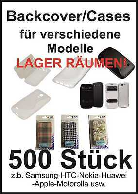Sonderposten Paket 500 Teile Handy Cases Backcover NEU Restposten  z.b Apple