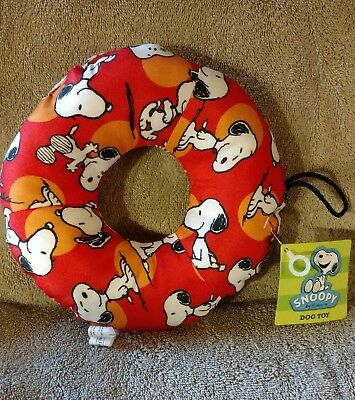 Snoopy Ring Dog Toy with Squeaker NWT