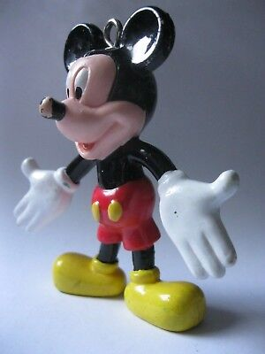 MICKEY MOUSE stamped Disney Monogram 1993 bendy toy about 3.25 inches tall