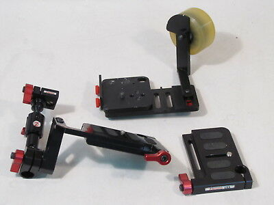 Lot Zacuto Dslr Camera Base Mount Baseplate Plate Rod Arm Etc. Accessories Parts