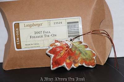 Longaberger 2007 Fall Foliage Tie on #23526 NEW