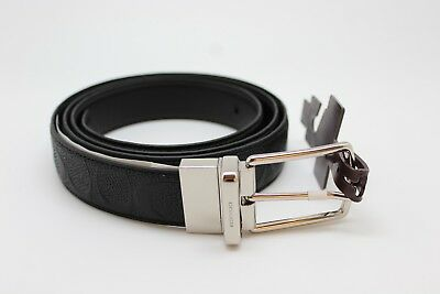 Coach F55158 Modern Harness Cut-To-Size Signature Leather Belt Black