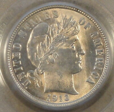 1913 Barber Dime PCGS MS62 PQ Old Holder