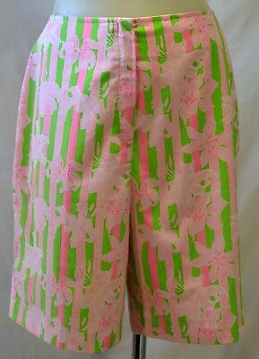 """Vtg 1960s 70s Lilly Pulitzer Shorts """"The Lilly"""" Tiger Lily Print 30"""" Waist Sz 10"""