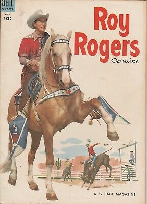 1954 No. 76 Roy Rogers Western Cowboy Dell 10 Ct Comic Book Golden Age 52 pages