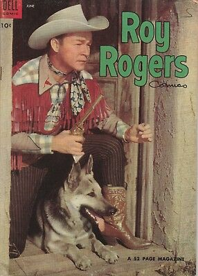 1954 No. 78 Roy Rogers Western Cowboy Dell 10 Ct Comic Book Golden Age 52 pages