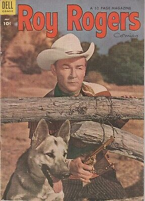 1954 No. 79 Roy Rogers Western Cowboy Dell 10 Ct Comic Book Golden Age 52 pages