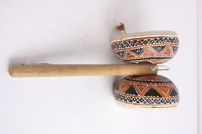 Hand Carved Double Sided Gourd Bamboo Hand Folk World Drum