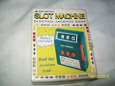 Vintage Slot Machine Game by Archer Toy Battery Tabletop