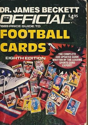 Dr. James Beckett Official 1989 Price Guide To Football Cards 8th Edition