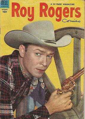 1953 No. 72 Roy Rogers Western Cowboy Dell 10 Ct Comic Book Golden Age 52 pages