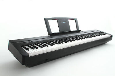 Yamaha P35B Digital Piano: 88 weighted keys, sustain pedal and music rest.