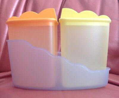 Vintage Tupperware 2 containers in stand very cute