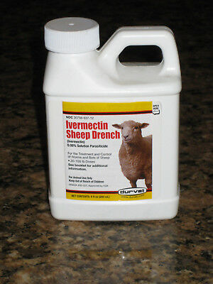 Ivermectin Sheep Drench 8 oz.  New  Free S/H