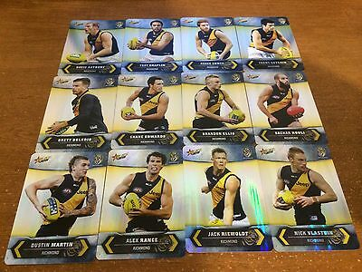 2015 Select Champions Silver Parallel Cards - Richmond Team Set - 12 Cards
