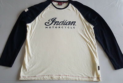 INDIAN MOTORCYCLE Longsleeve Raglan T-Shirt Tee (2XL)