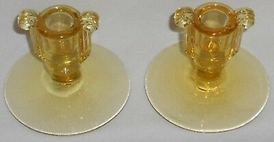 Fostoria ART DECO SCROLL George Sakier Design CANDLESTICK SET