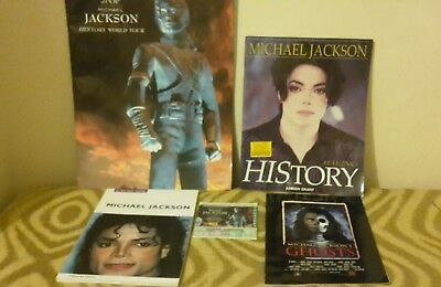 Michael Jackson history world tour ticket wembley merchandise in his own words