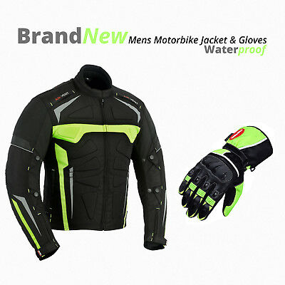 Motorcycle Motorbike Cordura Jacket Leather Gloves Waterproof Bike Gloves Coat