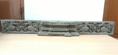 Ancient Wall Hanging Wooden Panel Door Beam Antique Hand Carved panel Estate Old