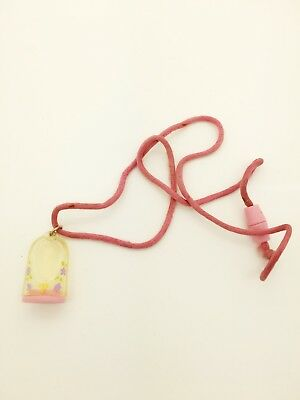 Vintage Polly Pocket 1990 Pink Polly Pendant Necklace No Doll