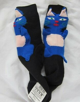 Vintage Sock Shop Cat Ankle Socks - Genuine 1980's Socks - UK Size 4 to 7