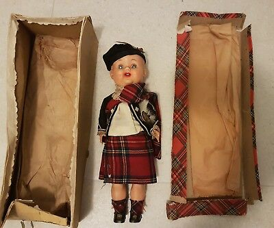 1950's Walking Doll 31cms Made In Scotland
