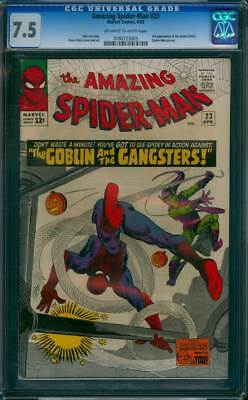 Amazing Spider-Man # 23  The Goblin and the Gangsters !   CGC 7.5  scarce book !