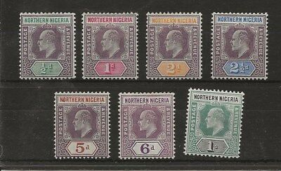 Northern Nigeria  Sg 20/26  1905/7 Wmk Mult Crown Ca Set To 1/-  Fine Mint