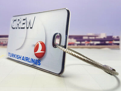 Turkish Airlines Crew Tag / Anhänger sehr edel