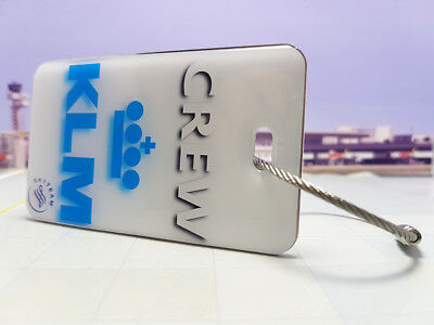 KLM Airlines Crew Tag / Anhänger sehr edel