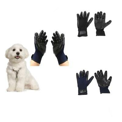 1 Pair Pet Grooming Gloves Brush Dog Cat Hair Remover Mitt Massage Deshedding