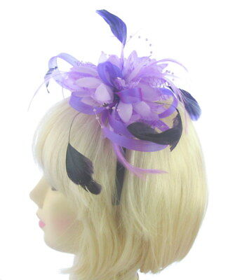 purple/ lilac looped fascinator headband, Weddings,Ladies Day Ascot Races