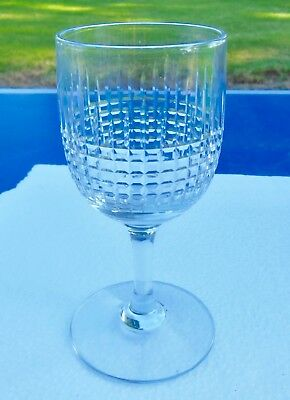 1 ANTIQUE GLASSES WINE IN CRYSTAL BACCARAT MODEL NANCY ht 12,5 cm signed