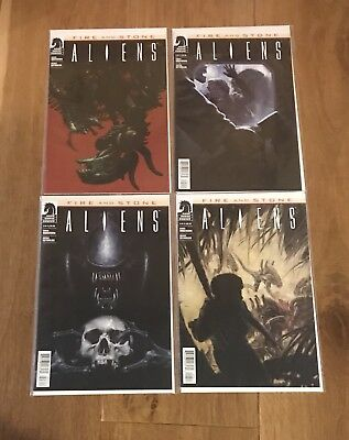 Aliens Fire and Stone #1-4 Complete Set Dark Horse Comics NM 1st Prints