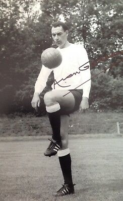 Alan Gilzean Authentic Signed Spurs 12X8 Photo Aftal#198
