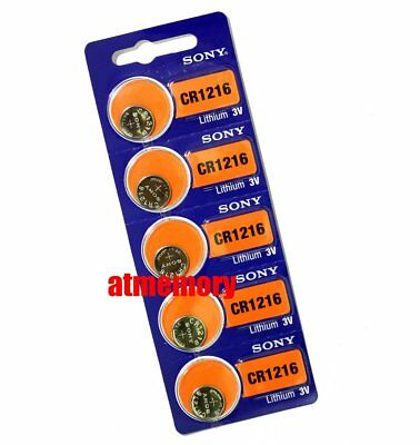 Sony CR1216 CR 1216 3V Coin Cell Button Battery x 5pcs Japan Genuine Exp.2027