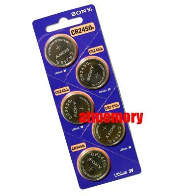 Sony CR2450 CR 2450 3V Coin Cell Button Battery x 5pcs Genuine Exp.2027