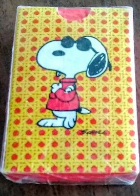 Joe Cool Cover Vintage Snoopy Hallmark Playing Cards New Sealed Exc