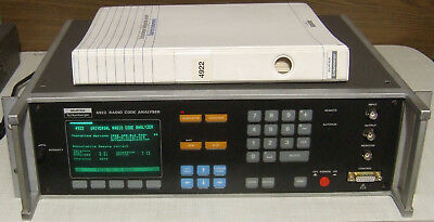 Solartron Schlumberger 4922 Radio Code Analyser mit Manual