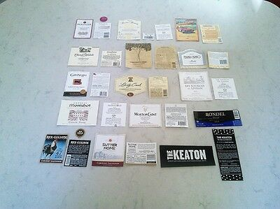 Assorted Wine  Labels From 15 Different Wines