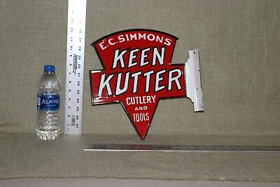 Keen Kutter Porcelain 2-Sided Flange Gas Oil General Store Cutlery Tools Kitchen