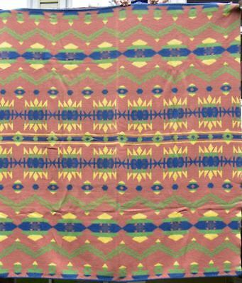 "Indian Design Antique"" Camp Blanket"", Wool and Cotton,"