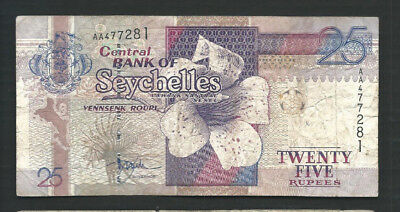 Seychelles 1998 25 Rupees P 37a Circulated
