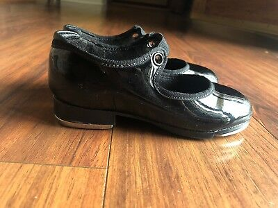 Capezio Little Girls Tap Shoes Size 9M Black