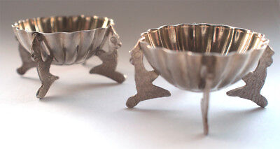 Antique 925 Solid Sterling Silver Pair of Sugar Pots Dishes Bowls Vintage 20s